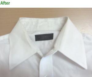 つけただけでワイシャツの襟が真っ白に!