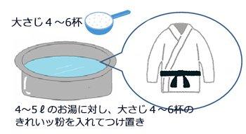 柔道衣、空手衣の黄ばみ洗濯方法